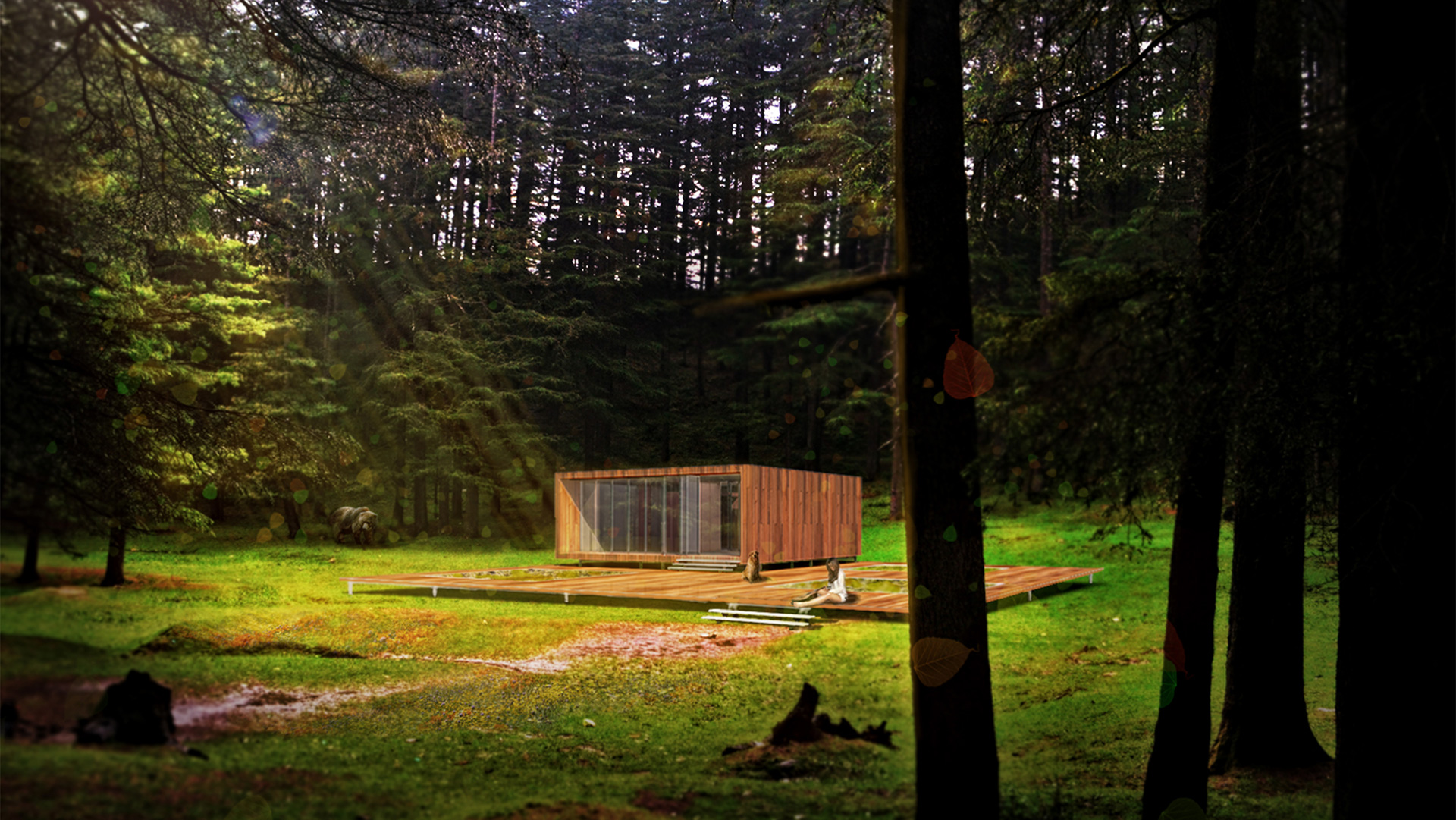 Shelter in the forest designed by Rodrigo A. Santoveña